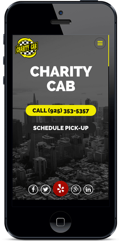 Check out Charity Cab mobile site on iPhone for any local taxi services.