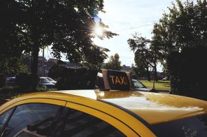 roof of taxi in danville charity cab
