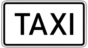 taxi sign to take a taxi