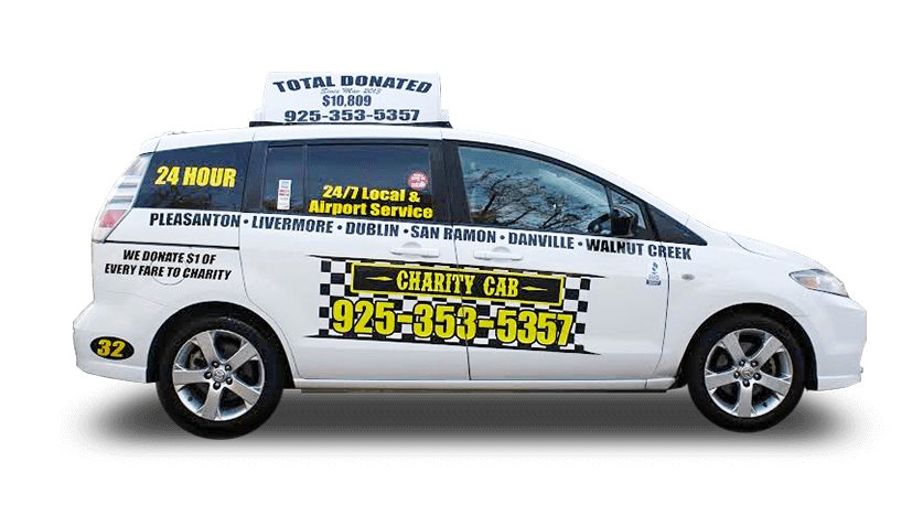 Charity Cab Sedan is perfect for airport taxi services in the bay area