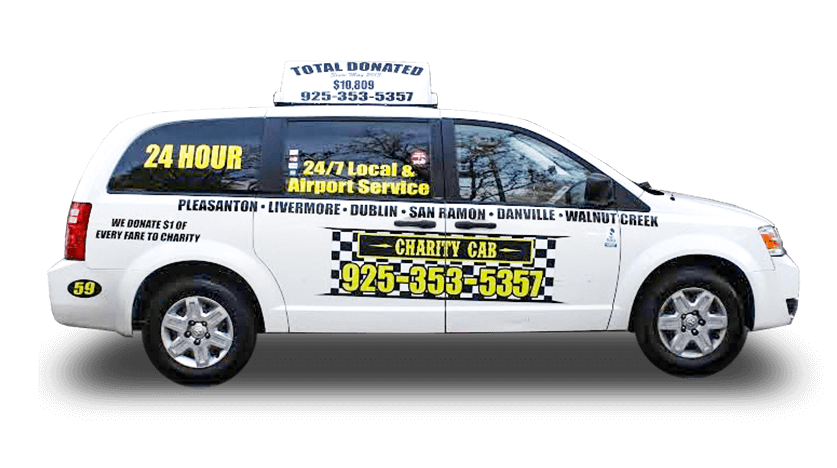 Charity Cab Van for larger groups that need taxi services in Pleasanton